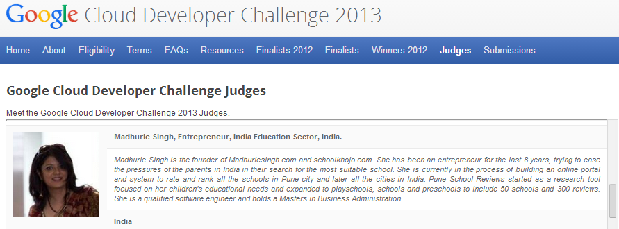 Judge Google cloud developer apps 2013