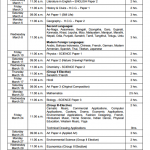 icse class 10 timetable 2017 Madhurie Singh