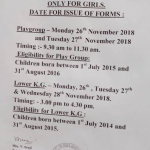 St Helenas School Pune Admission dates 2019 2020 Playgroup JrKg