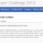 Selected as a Judge by Google for 2013 Apps Competition