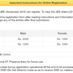 JEE Advanced 2016 Application form for BE, BArch, BPlanning