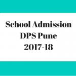 DPS Pune School admission-2017-18